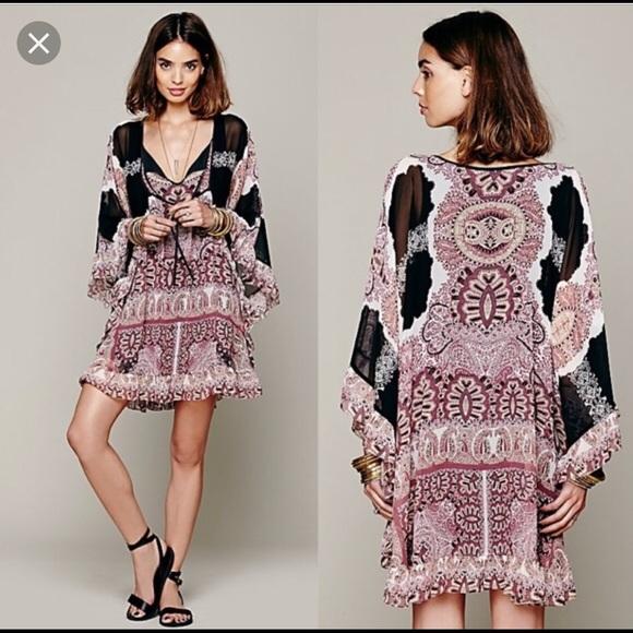 f03ca7953122a Free People Dresses | Nwt Marla Boho Dress Size M 128 | Poshmark